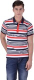 Hoffmen Self Design Men's Polo Neck Mult...