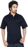 Thinc Solid Men's Polo Neck Dark Blue T-...