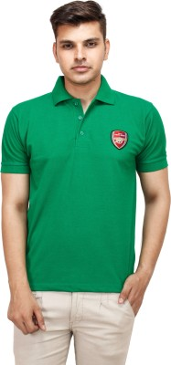 Yuvi Solid Men's Polo Light Green T-Shirt