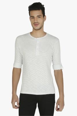 Nick & Jess Striped Men's Henley White T-Shirt