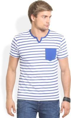 Thisrupt Solid Men's Round Neck Blue T-Shirt