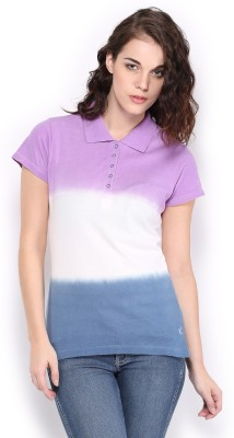 HRX by Hrithik Roshan Solid Women,s Purple T-Shirt