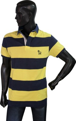 Beer Studio Striped Men's Polo Neck T-Shirt