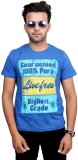 Port Graphic Print Men's Round Neck Blue...