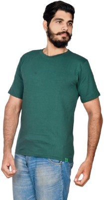 Indian Royals Solid Men's Round Neck Green T-Shirt