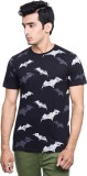 Batman Printed Men's Round Neck Black T-...