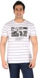 CFT Printed Men's Round Neck White T-Shi...