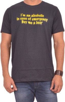 Sonic Tees Graphic Print Men's Round Neck Black T-Shirt