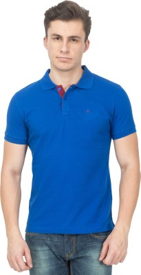 Blue Saint Solid Men's Polo Neck T-Shirt