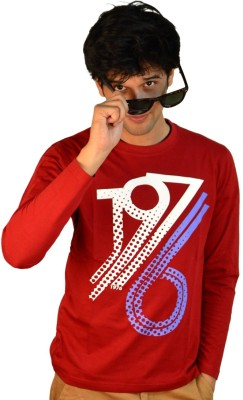 TSG Escape Printed Men's Round Neck Maroon T-Shirt