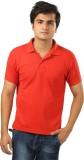 Sans Pareil Solid Men's Polo Neck Red T-...