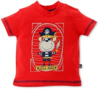 FS Mini Klub Boys Printed T Shirt(Red)