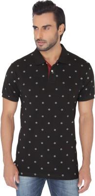 Greenfibre Printed Men's Polo Black T-Shirt