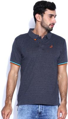 Jn Joy Solid Men,s Polo Neck T-Shirt