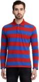 House Of Fett Striped Men's Polo Neck Bl...