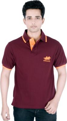 Buzkachi Solid Men,s, Boy's Flap Collar Neck T-Shirt