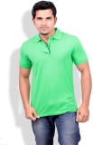 Gumality Solid Men's Polo Neck Green T-S...