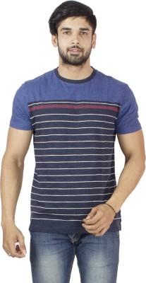 Petroficio Striped Men's Round Neck Multicolor T-Shirt