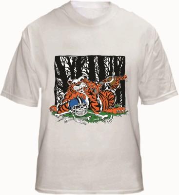 Fantaboy Graphic Print Men's Round Neck White T-Shirt