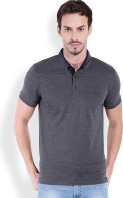 Locomotive Solid Men's Polo Black T-Shirt