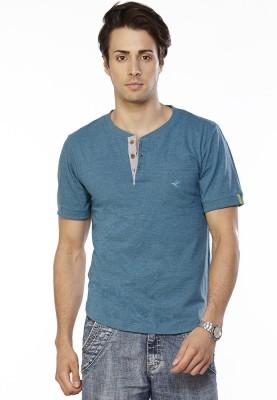 Do U Speak Green Solid Men's Henley T-Shirt