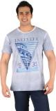 CFT Printed Men's Round Neck Grey T-Shir...