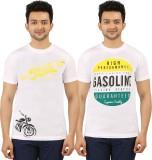 AG Printed Men's Round Neck White T-Shir...