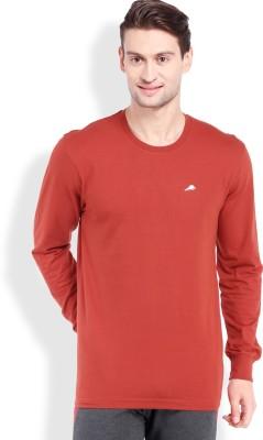 2go Solid Men's Round Neck Orange T-Shirt