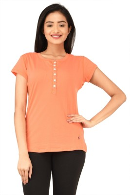 TSG Bliss Solid Women's Round Neck Red T-Shirt