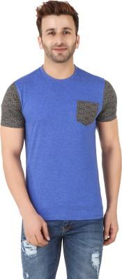 Spunk Printed Men's Round Neck Black T-Shirt