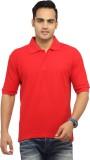 Zevog Solid Men's Polo Neck Red T-Shirt