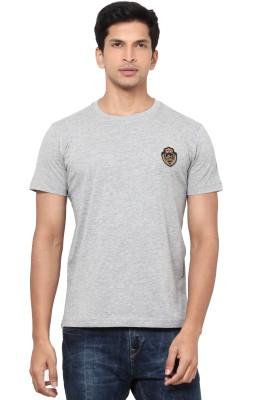 La Seven Solid Men's Round Neck Grey T-Shirt