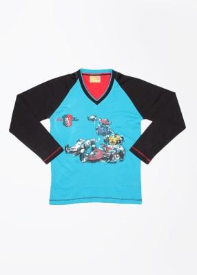 Duke Printed Boy's V-neck T-Shirt
