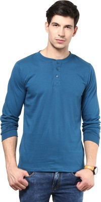 Izinc Solid Men's Henley T-Shirt
