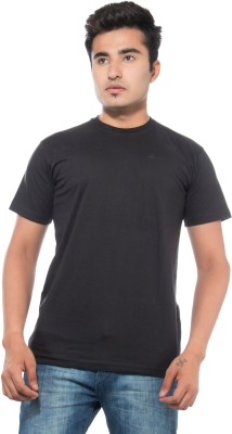 CKL Solid Men's Round Neck Black T-Shirt