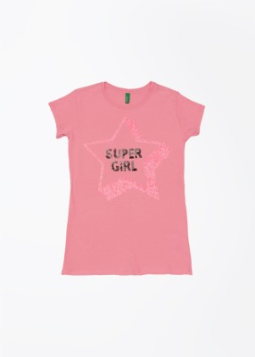 United Colors of Benetton Solid Girl's Round Neck T-Shirt