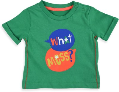 Mothercare Printed Baby Boy's Round Neck Green T-Shirt