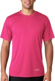 AWG Solid Men's Round Neck Pink T-Shirt