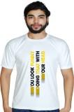 Prokyde Printed Men's Round Neck White T...