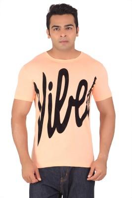 Radbone Printed Men's Round Neck Orange T-Shirt