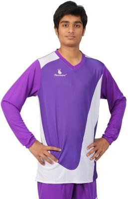 Triumph Printed Men's V-neck Purple T-Shirt