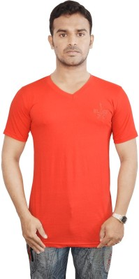 Al-Harsha Trend Solid Men's V-neck Red T-Shirt