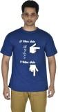 Leep Printed Men's Round Neck Blue T-Shi...