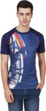 Spunk Printed Men's Round Neck Blue T-Sh...