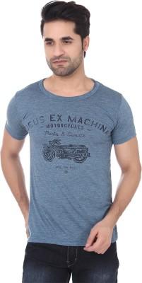 Buff Printed Men's Round Neck T-Shirt