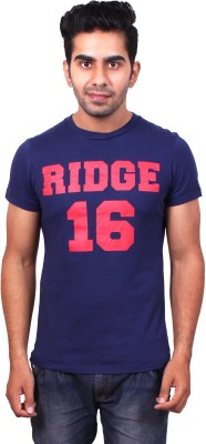 Brooklyn And Ridge Graphic Print, Printed Men's Round Neck Dark Blue T-Shirt