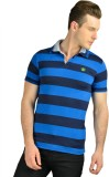 Ahhaaaa Striped Men's Polo Neck Blue T-S...