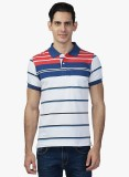 Seaboard Striped Men's Polo Neck Red, Wh...