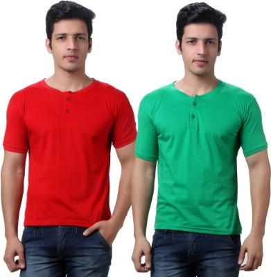 TeeMoods Solid Men's Henley T-Shirt