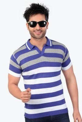 Inter Creation Striped Men's Polo T-Shirt